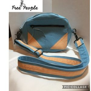 Free People canvas crossbody never used